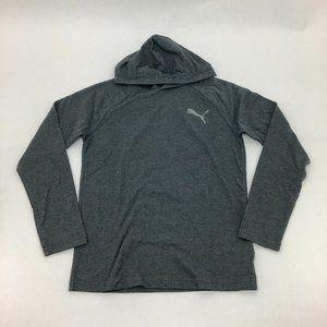 Puma | Men's Hooded Long Sleeve Shirt | Dark Grey